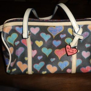 Dooney & Bourke Vintage Heart Barrel Satchel